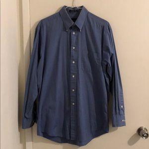 Club Room - Blue Solid Dress Shirt